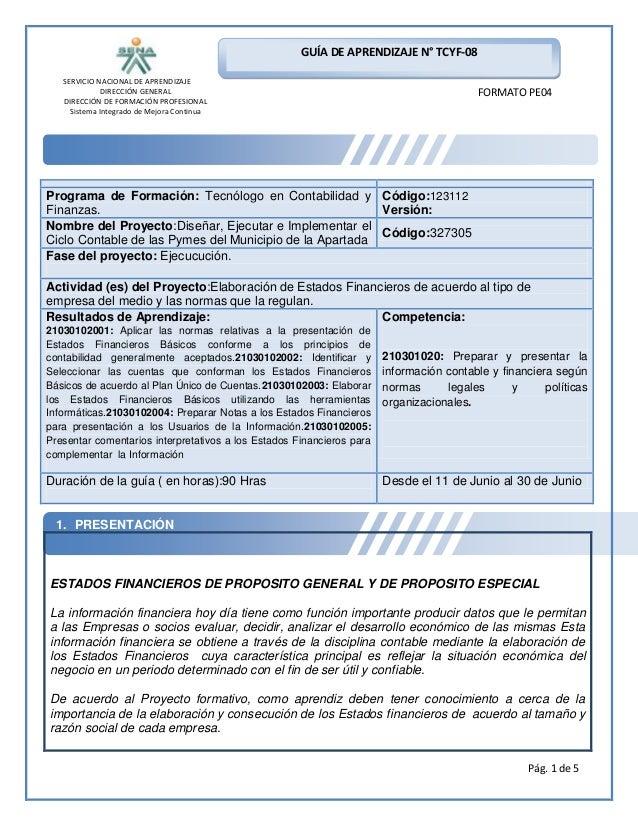 GUÍA DE APRENDIZAJE N° TCYF-08 SERVICIO NACIONAL DE APRENDIZAJE DIRECCIÓN GENERAL DIRECCIÓN DE FORMACIÓN PROFESIONAL Siste...