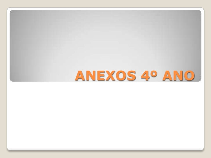 ANEXOS 4º ANO