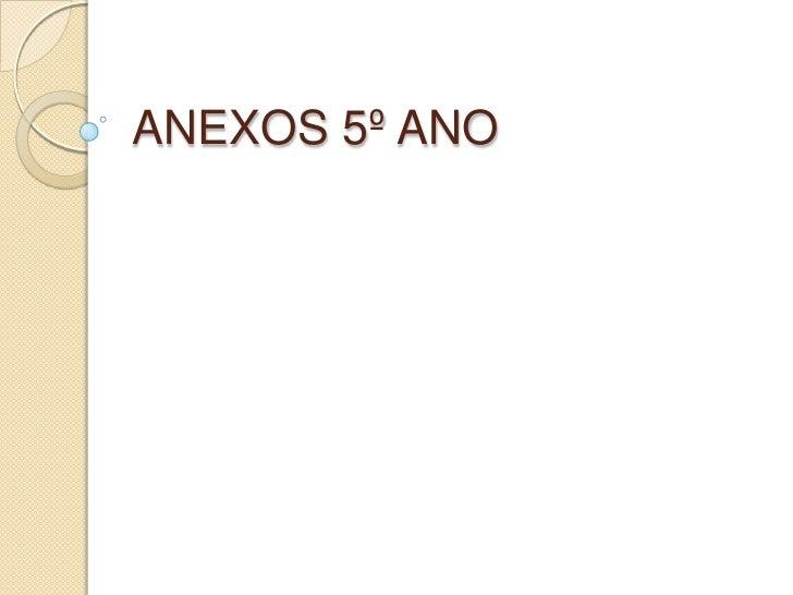 ANEXOS 5º ANO