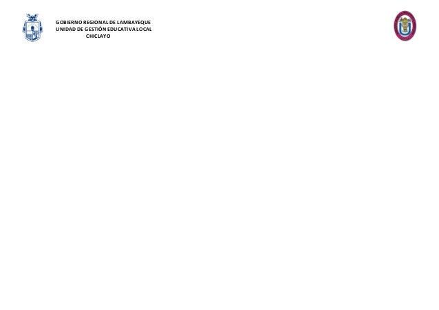 GOBIERNO REGIONAL DE LAMBAYEQUE UNIDAD DE GESTIÓN EDUCATIVA LOCAL CHICLAYO