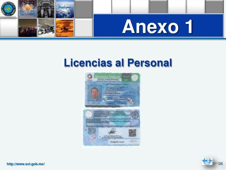 Anexo 1                         Licencias al Personalhttp://www.sct.gob.mx/
