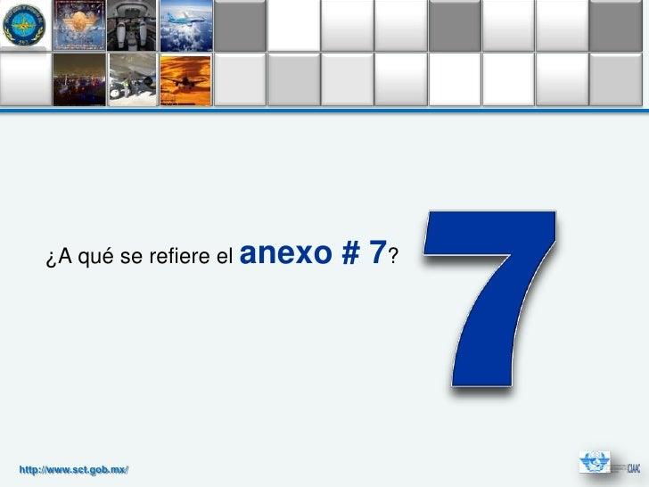 ¿A qué se refiere el anexo   # 7?http://www.sct.gob.mx/