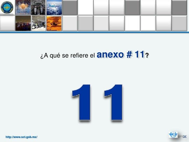 ¿A qué se refiere el anexo   # 11?http://www.sct.gob.mx/