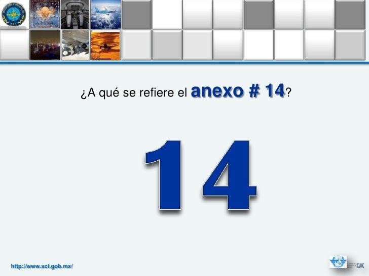 ¿A qué se refiere el anexo   # 14?http://www.sct.gob.mx/