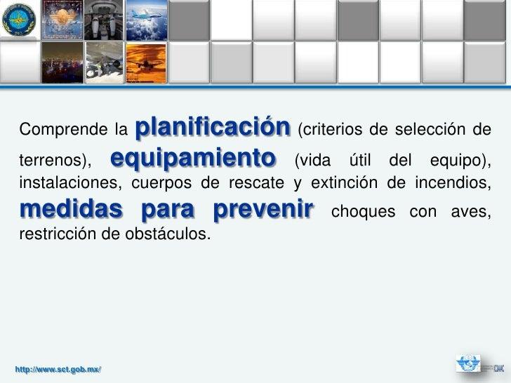 Comprende la              planificación (criterios de selección de terrenos),              equipamiento (vida útil del equ...