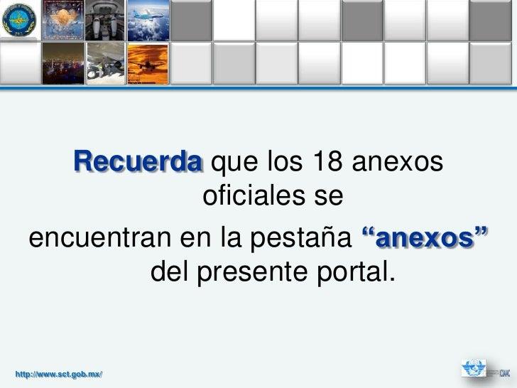 """Recuerda que los 18 anexos                oficiales se   encuentran en la pestaña """"anexos""""            del presente portal...."""