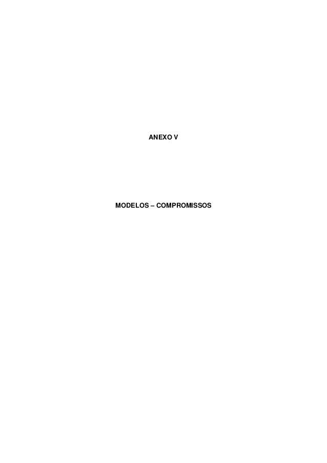 ANEXO V MODELOS – COMPROMISSOS