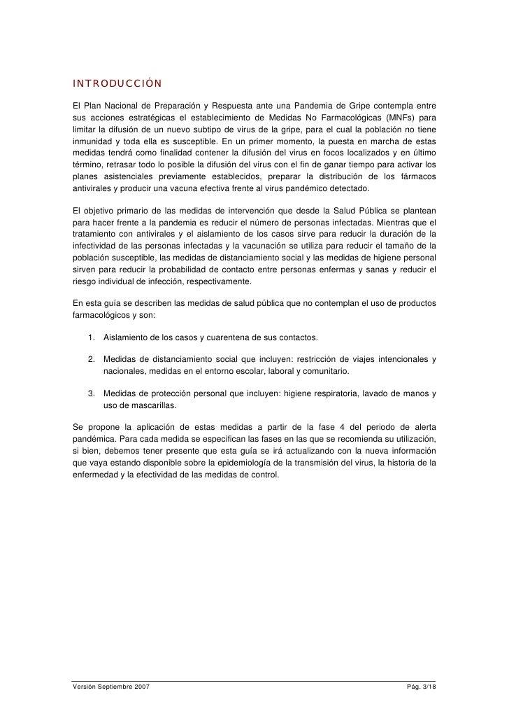 MEDIDAS NO FARMACOLÓGICAS PARA AFRONTAR LA GRIPE