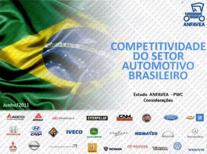 competitividade do setor automotivo brasileiro - estudo ANFAVEA - PWC