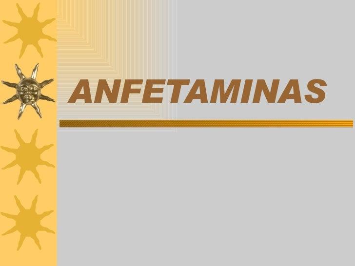 ANFETAMINAS