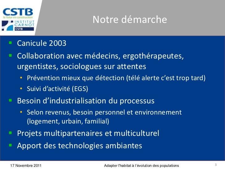 Notre démarche Canicule 2003 Collaboration avec médecins, ergothérapeutes,  urgentistes, sociologues sur attentes    • P...