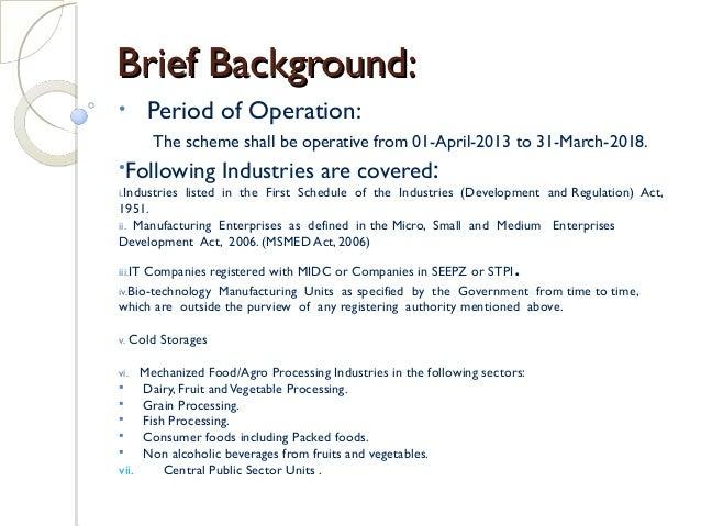 PRESENTATION ON PACKAGED SCHEME OF INCENTIVES 2013 MAHRASHTRA STATE Slide 2