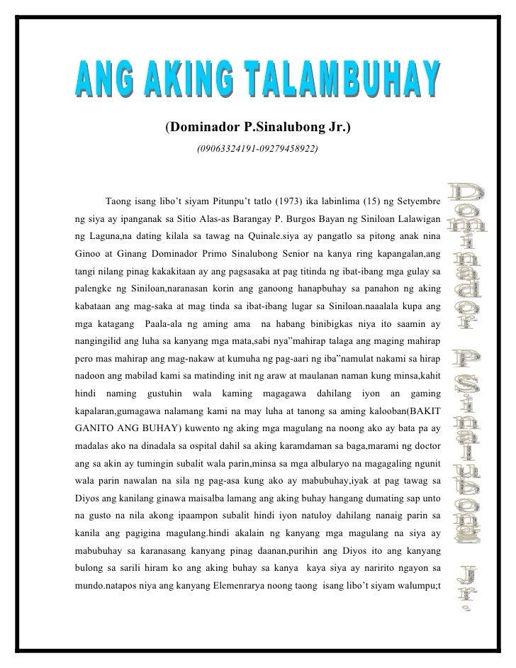 Talambuhay essay