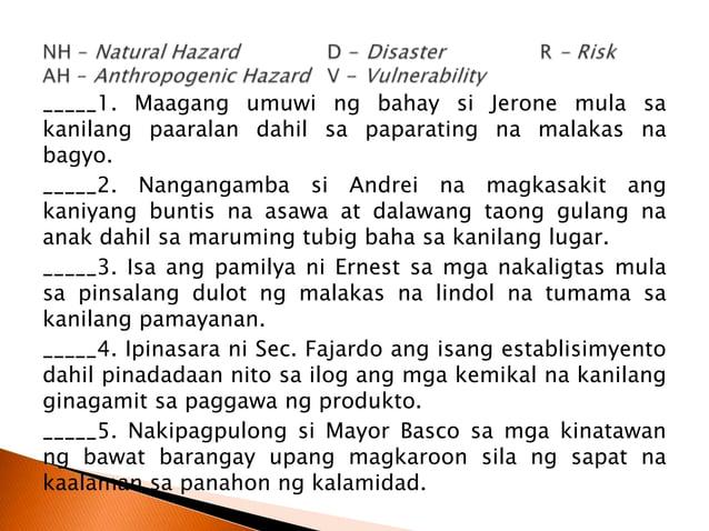  Basahin ang magkatapat na pahayag. Lagyan ng plus sign (+) ang maliit na kahon na katabi nito kung ang salita ay naayon ...