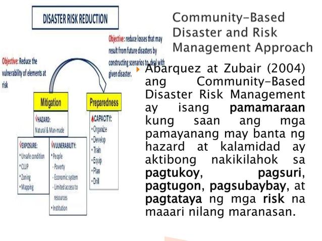 1. Ang Community-Based Disaster and Risk Management Approach ay tumutukoy sa ________. 2. Magiging matagumpay ang CBDRM Ap...