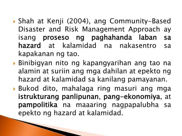  Pinakamahalagang layunin ng Philippine National Disaster Risk Reduction and Management Framework (PDRRMF) ay ang pagbuo ...