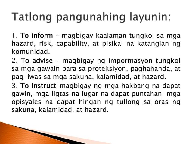  ang damage ay tumutukoy sa bahagya o pangkalahatang pagkasira ng mga ari-arian dulot ng kalamidad.