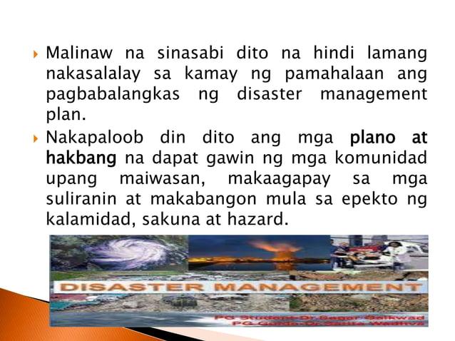1.1 Anthropogenic Hazard o Human-Induced Hazard –bunga ng mga gawain ng tao.  Hal. maitim na usok na ibinubuga ng mga pab...