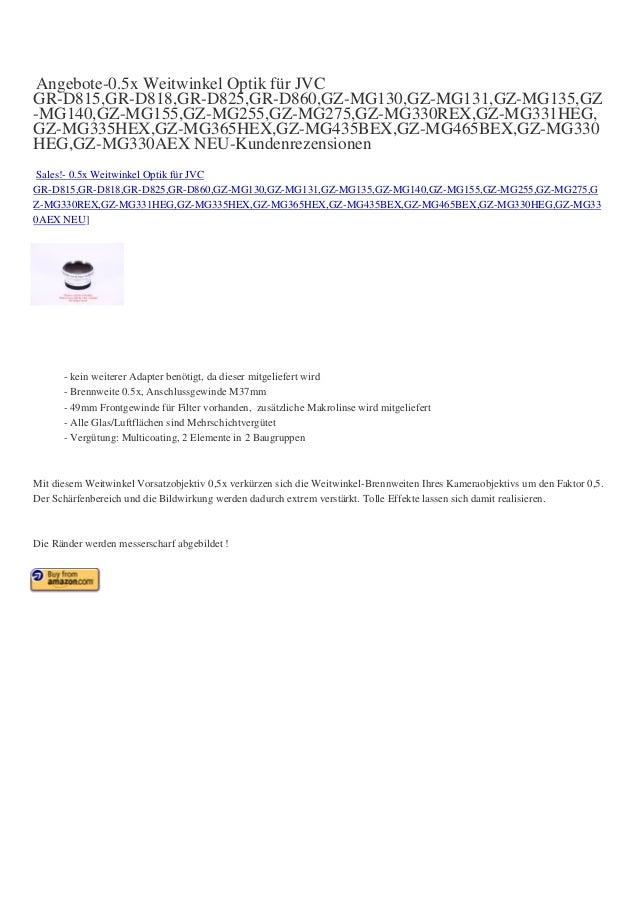 Angebote-0.5x Weitwinkel Optik für JVC GR-D815,GR-D818,GR-D825,GR-D860,GZ-MG130,GZ-MG131,GZ-MG135,GZ -MG140,GZ-MG155,GZ-MG...