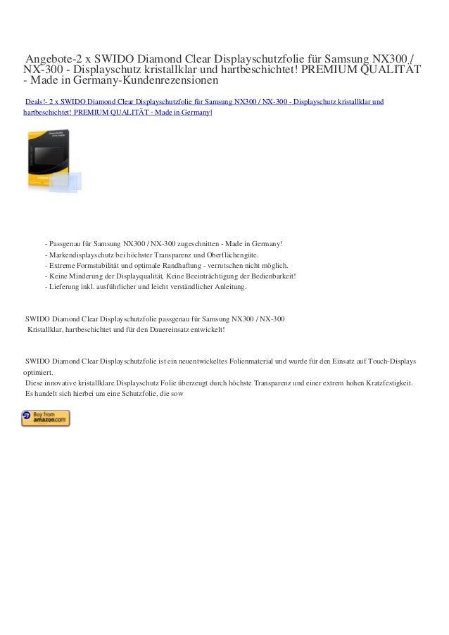 Angebote-2 x SWIDO Diamond Clear Displayschutzfolie für Samsung NX300 / NX-300 - Displayschutz kristallklar und hartbeschi...