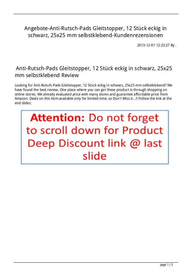 Angebote-Anti-Rutsch-Pads Gleitstopper, 12 Stück eckig in schwarz, 25x25 mm selbstklebend-Kundenrezensionen 2013-12-01 12:...