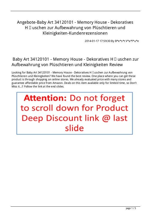 Angebote-Baby Art 34120101 - Memory House - Dekoratives Häuschen zur Aufbewahrung von Plüschtieren und Kleinigkeiten-Kunde...