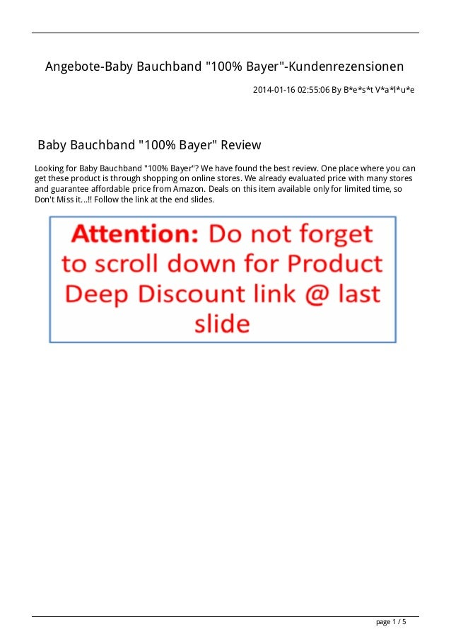 "Angebote-Baby Bauchband ""100% Bayer""-Kundenrezensionen 2014-01-16 02:55:06 By B*e*s*t V*a*l*u*e  Baby Bauchband ""100% Baye..."