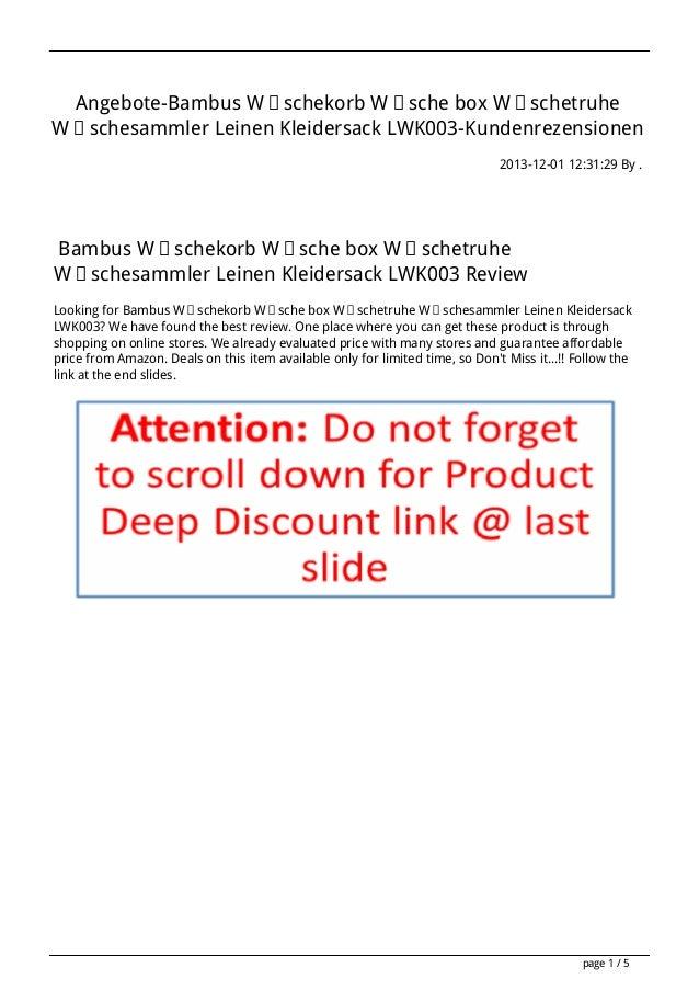 Angebote-Bambus Wäschekorb Wäsche box Wäschetruhe Wäschesammler Leinen Kleidersack LWK003-Kundenrezensionen 2013-12-01 12:...