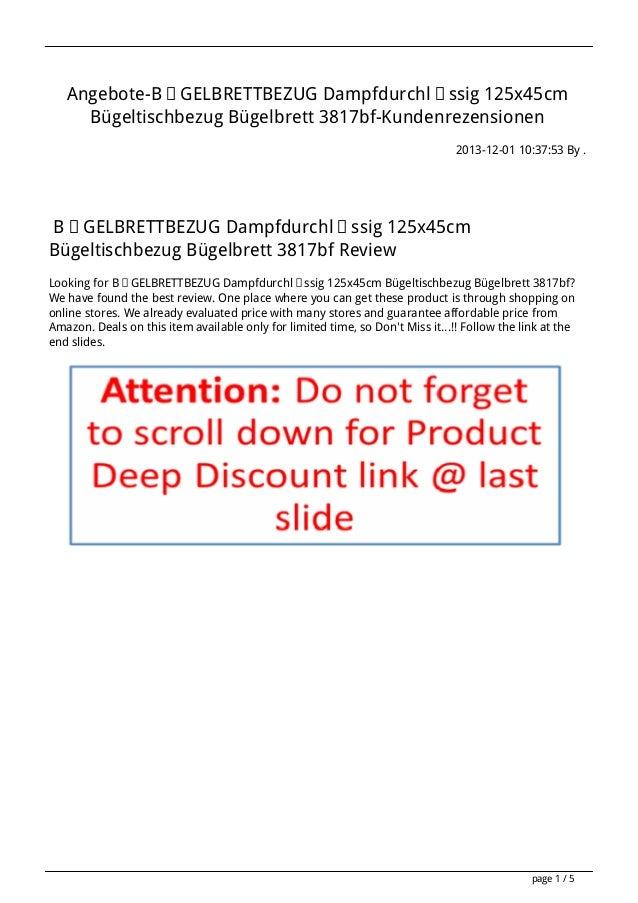 Angebote-BÜGELBRETTBEZUG Dampfdurchlässig 125x45cm Bügeltischbezug Bügelbrett 3817bf-Kundenrezensionen 2013-12-01 10:37:53...