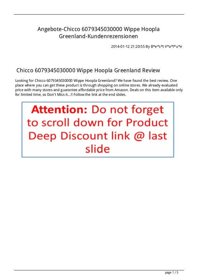 Angebote-Chicco 6079345030000 Wippe Hoopla Greenland-Kundenrezensionen 2014-01-12 21:20:55 By B*e*s*t V*a*l*u*e  Chicco 60...