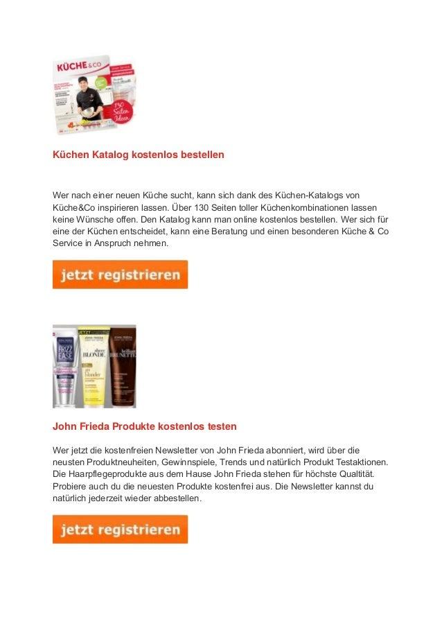 Küchen Katalog kostenlos bestellen Wer nach einer neuen Küche sucht, kann sich dank des Küchen-Katalogs von Küche&Co inspi...