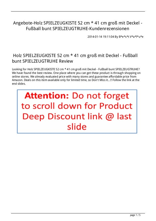 Angebote-Holz SPIELZEUGKISTE 52 cm * 41 cm groß mit Deckel Fußball bunt SPIELZEUGTRUHE-Kundenrezensionen 2014-01-14 19:11:...