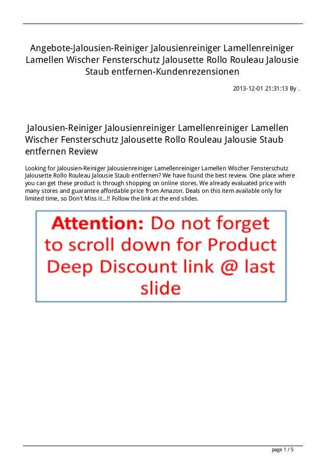 Angebote-Jalousien-Reiniger Jalousienreiniger Lamellenreiniger Lamellen Wischer Fensterschutz Jalousette Rollo Rouleau Jal...