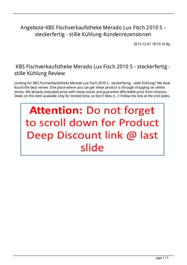 Angebote-KBS Fischverkaufstheke Merado Lux Fisch 2010 S steckerfertig - stille Kühlung-Kundenrezensionen 2013-12-01 18:19:...