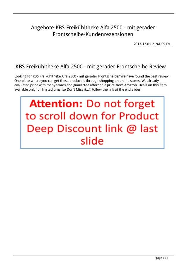 Angebote-KBS Freikühltheke Alfa 2500 - mit gerader Frontscheibe-Kundenrezensionen 2013-12-01 21:41:09 By .  KBS Freikühlth...