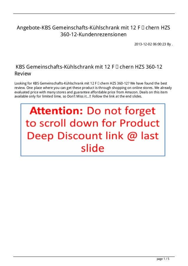 Angebote-KBS Gemeinschafts-Kühlschrank mit 12 Fächern HZS 360-12-Kundenrezensionen 2013-12-02 06:00:23 By .  KBS Gemeinsch...