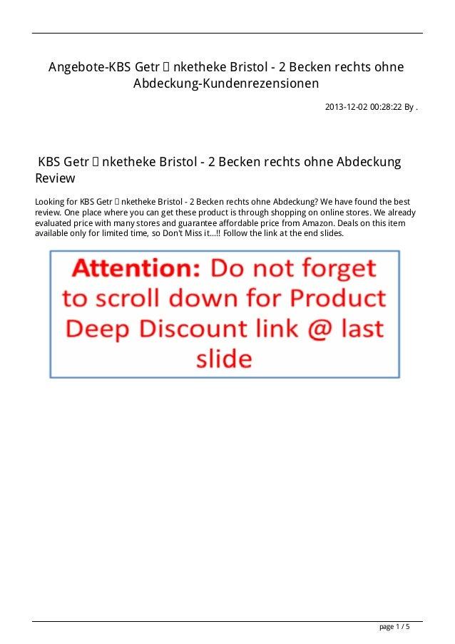 Angebote-KBS Getränketheke Bristol - 2 Becken rechts ohne Abdeckung-Kundenrezensionen 2013-12-02 00:28:22 By .  KBS Geträn...