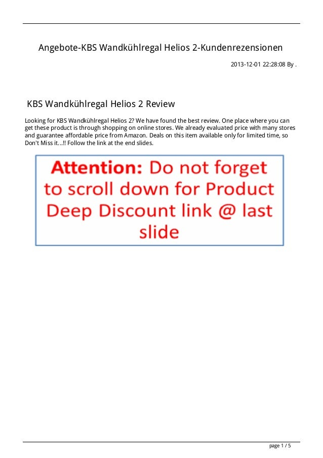 Angebote-KBS Wandkühlregal Helios 2-Kundenrezensionen 2013-12-01 22:28:08 By .  KBS Wandkühlregal Helios 2 Review Looking ...