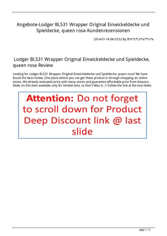 Angebote-Lodger BL531 Wrapper Original Einwickeldecke und Spieldecke, queen rosa-Kundenrezensionen 2014-01-14 04:53:52 By ...
