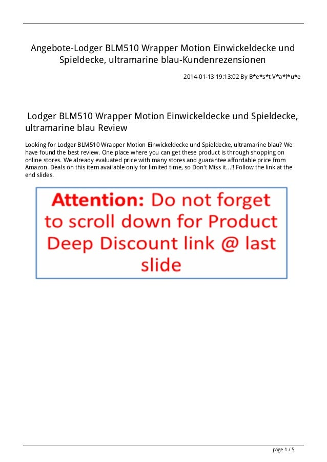 Angebote-Lodger BLM510 Wrapper Motion Einwickeldecke und Spieldecke, ultramarine blau-Kundenrezensionen 2014-01-13 19:13:0...