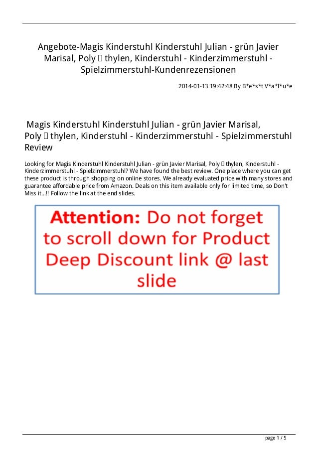 Angebote-Magis Kinderstuhl Kinderstuhl Julian - grün Javier Marisal, Polyäthylen, Kinderstuhl - Kinderzimmerstuhl Spielzim...