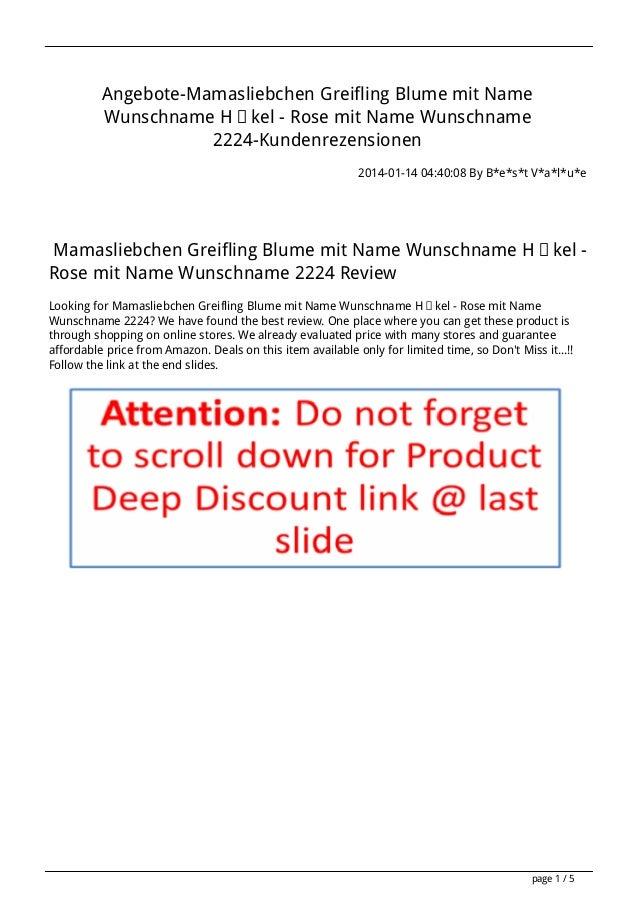 Angebote-Mamasliebchen Greifling Blume mit Name Wunschname Häkel - Rose mit Name Wunschname 2224-Kundenrezensionen 2014-01...