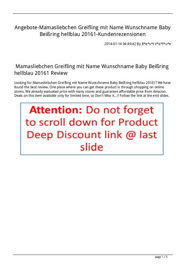 Angebote-Mamasliebchen Greifling mit Name Wunschname Baby Beißring hellblau 20161-Kundenrezensionen 2014-01-14 04:49:42 By...