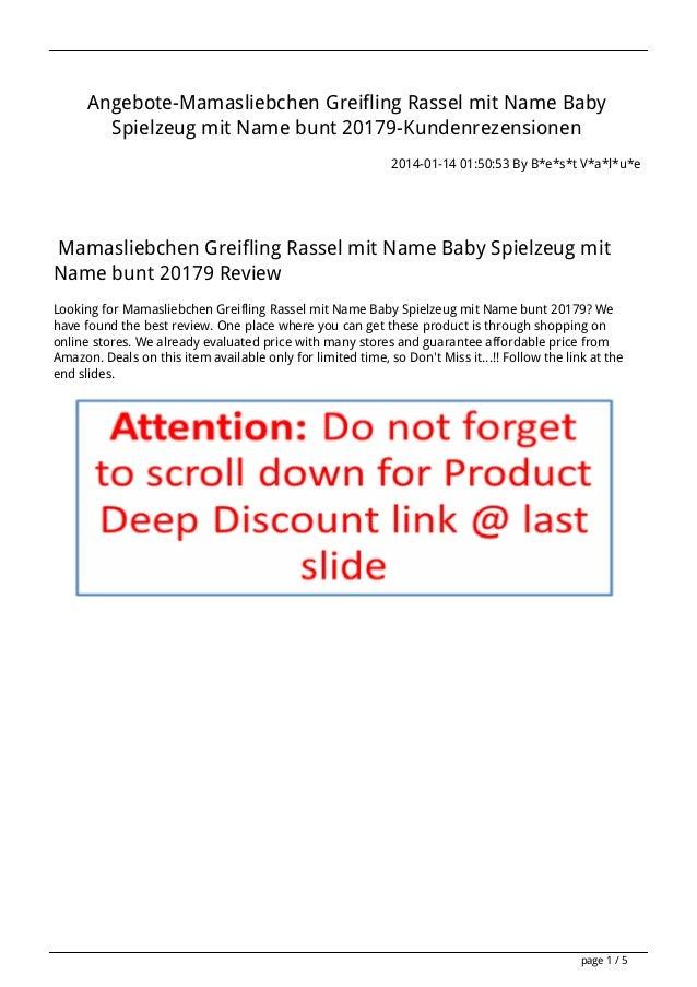 Angebote-Mamasliebchen Greifling Rassel mit Name Baby Spielzeug mit Name bunt 20179-Kundenrezensionen 2014-01-14 01:50:53 ...