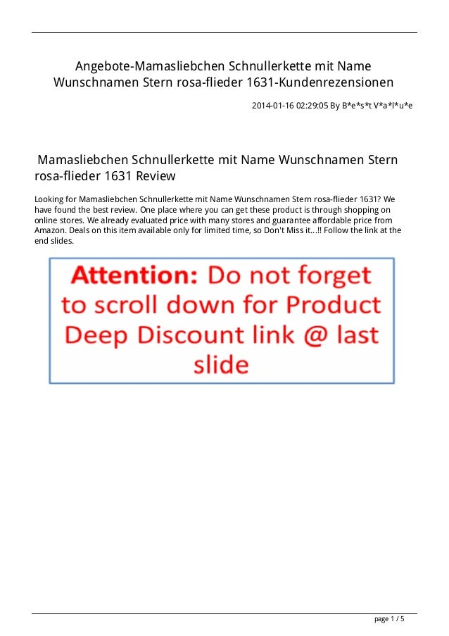 Angebote-Mamasliebchen Schnullerkette mit Name Wunschnamen Stern rosa-flieder 1631-Kundenrezensionen 2014-01-16 02:29:05 B...