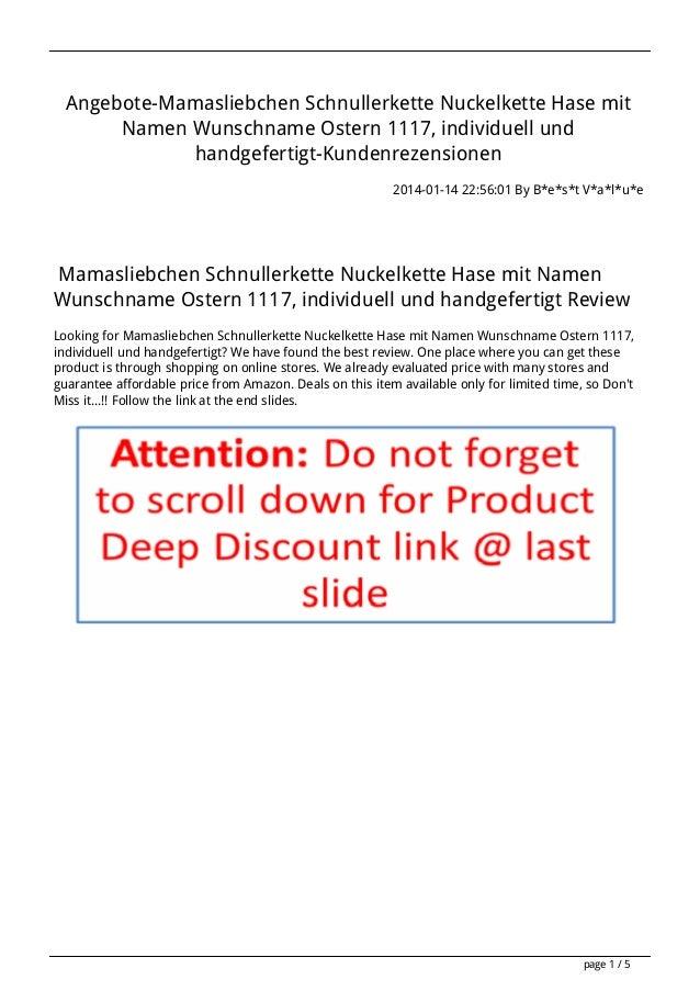 Angebote-Mamasliebchen Schnullerkette Nuckelkette Hase mit Namen Wunschname Ostern 1117, individuell und handgefertigt-Kun...