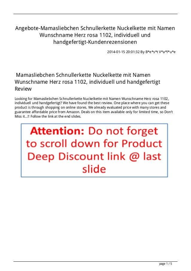 Angebote-Mamasliebchen Schnullerkette Nuckelkette mit Namen Wunschname Herz rosa 1102, individuell und handgefertigt-Kunde...