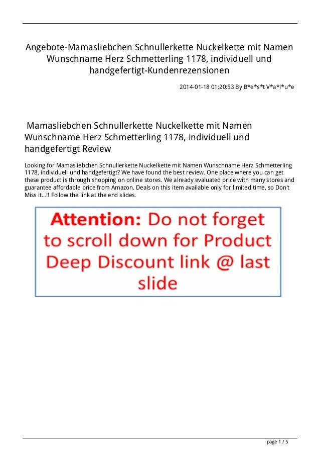 Angebote-Mamasliebchen Schnullerkette Nuckelkette mit Namen Wunschname Herz Schmetterling 1178, individuell und handgefert...