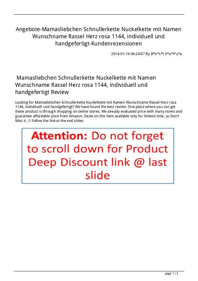 Angebote-Mamasliebchen Schnullerkette Nuckelkette mit Namen Wunschname Rassel Herz rosa 1144, individuell und handgefertig...
