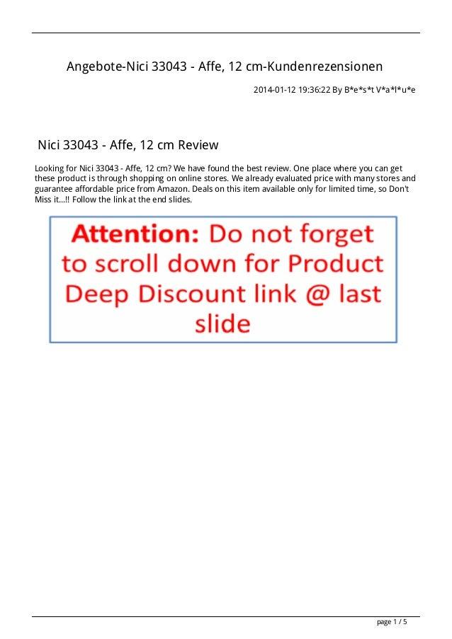 Angebote-Nici 33043 - Affe, 12 cm-Kundenrezensionen 2014-01-12 19:36:22 By B*e*s*t V*a*l*u*e  Nici 33043 - Affe, 12 cm Rev...